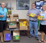 Mabel-Newburg UMCs donate back-to-school supplies to school district